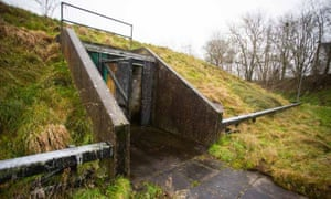 The entrance to the nuclear bunker in Ballymena