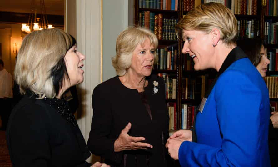 Kelly with Camilla, Duchess of Cornwall, who hosted a reception for Wow, and TV presenter Clare Balding in 2016.