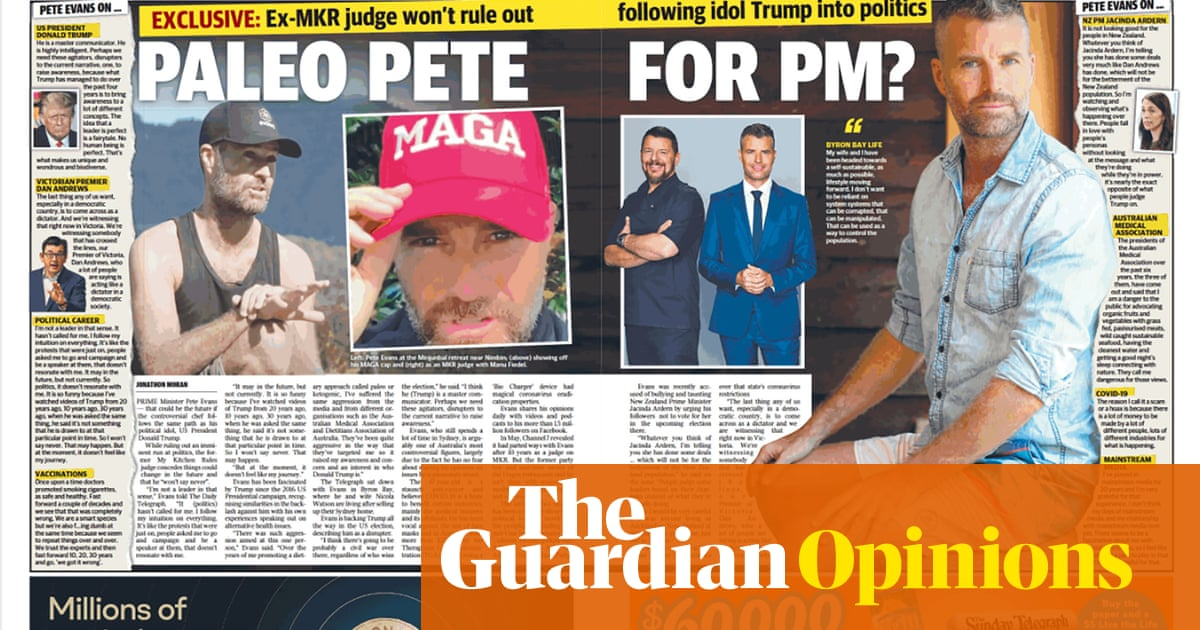 Thank you MSM: Pete Evans gets cosy treatment from the Daily Telegraph | Weekly Beast