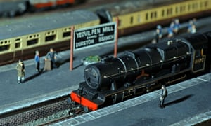 Scale model of Yeovil Pen Mill railway station