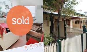 A house with a sold sign in Melbourne, 7 May 2012.