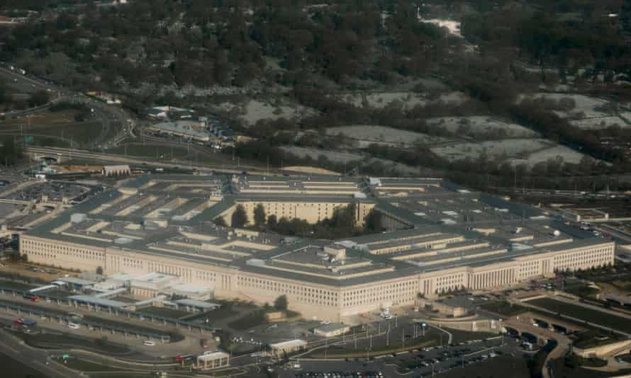 The Pentagon's emissions were 'in any one year ... greater than many smaller countries' greenhouse gas emissions'.