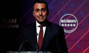 Luigi di Maio holds a news conference in Rome in January 2020.