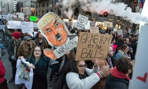 A rally near Trump Tower, four days after Donald Trump won the 2016 US presidential election