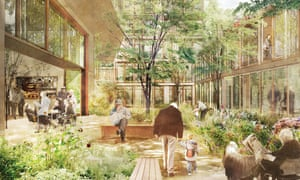 Artist's view of new almshouses planned in Bermondsey, south London, by the charity United St Saviour's.
