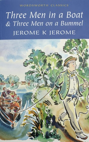 Book cover, Three Men in a Boat by Jerome K Jerome, donated by David Mitchell.