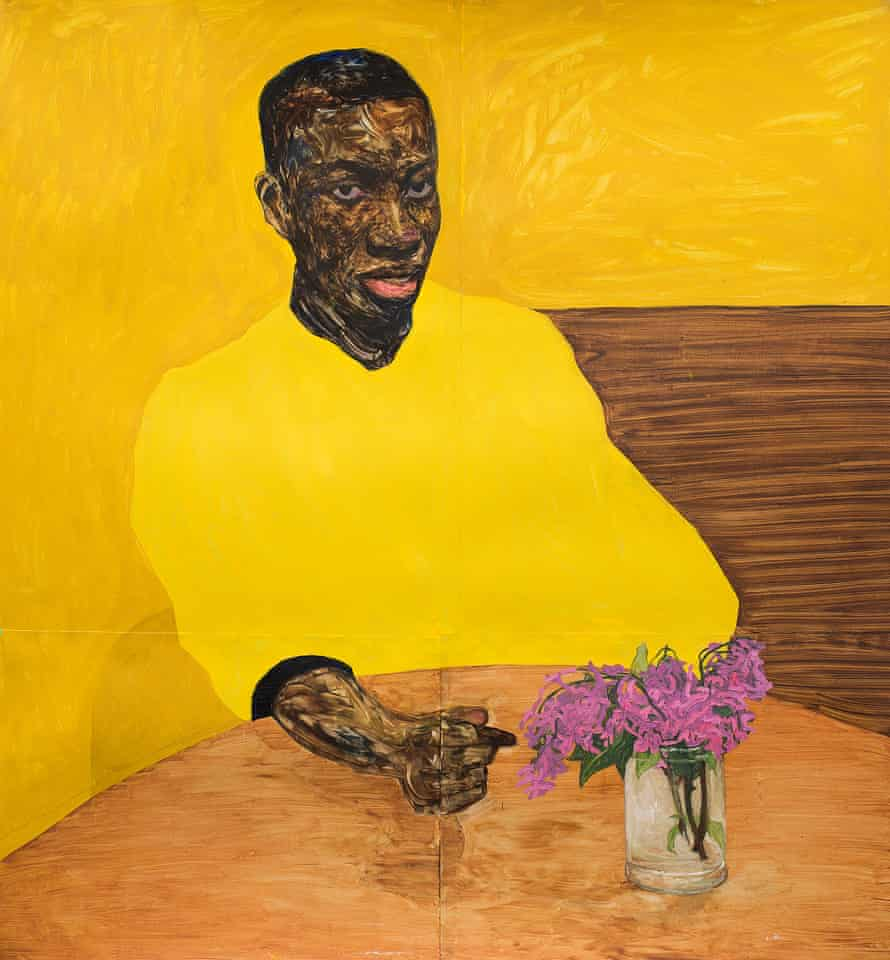 Study in yellow: a painting for the collection by Amoako Boafo.