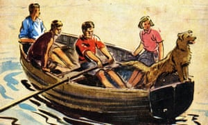 Detail from the cover of Enid Blyton's first Famous Five book, Five on a Treasure Island, first published 1942.