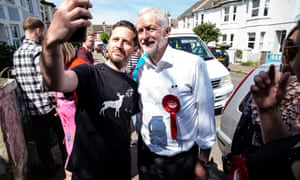 Jeremy Corbyn canvasses in East Worthing and Shoreham