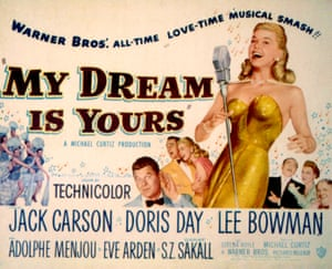 A poster for Doris Day's 1949 movie My Dream is Yours