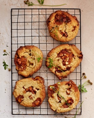 Claire Ptak's peanut butter brittle and camomile cookies.