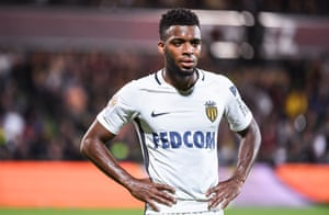 Thomas Lemar playing for Monaco at Metz in 2017.