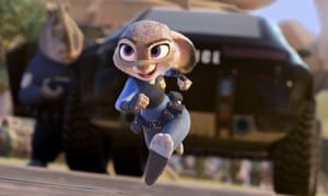 Duty bound … Judy Hopps, voiced by Ginnifer Goodwin, in Zootopia.