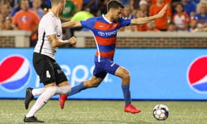 Nazmi Albadawi in action for FC Cincinnati during their time in the USL. The club are now making the step up to MLS