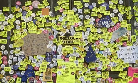'Bollocks to Brexit' stickers