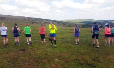 Wild running on Dartmoor in Devon