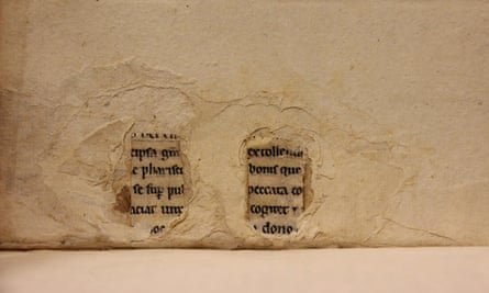 Another example of manuscript fragments in one of Leiden University's books.