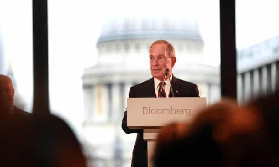 Democratic presidential hopeful Michael Bloomberg owns Bloomberg News.