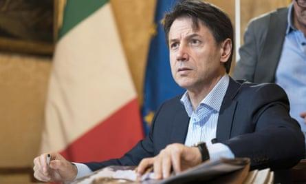 Giuseppe Conte, the Italian prime minister