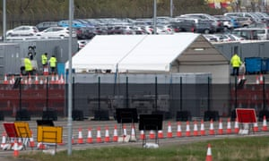 Test centre for NHS workers at Edinburgh airport