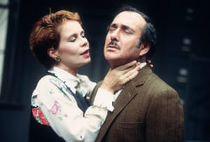 The Hothouse Harold Pinter (Roote) and Celia Imrie (Miss Cutts); directed by David Jones. Minerva theatre, Chichester, 1995.