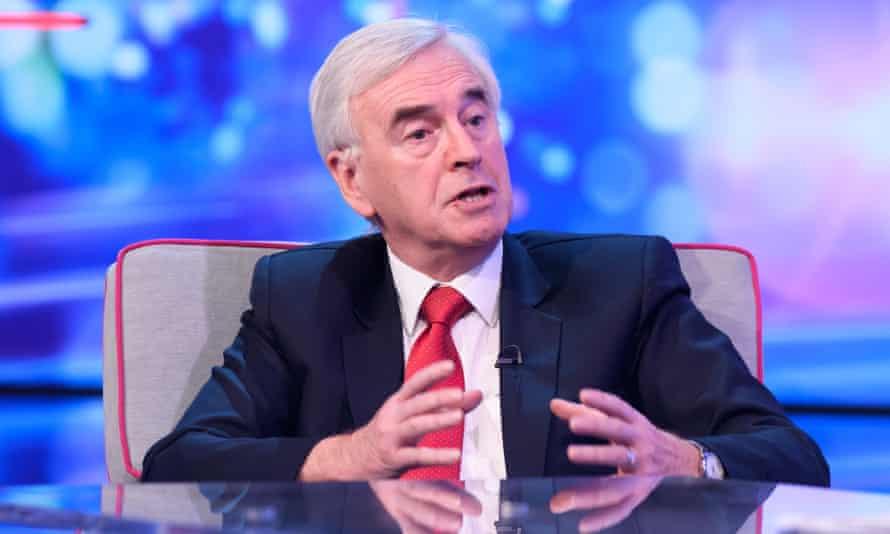 John McDonnell on ITV's Peston show.