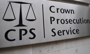 A view of signage for the Crown Prosecution Service in Westminster, London