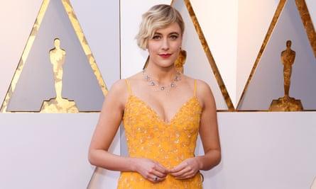 Greta Gerwig, writer and director of Lady Bird, at the Oscars