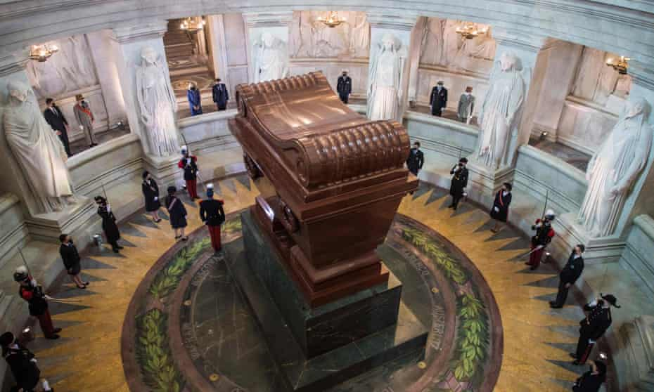 The ceremony at the tomb of Napoleon in Paris