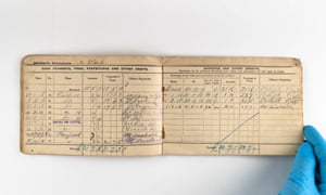 A soldier's pay book (24 February 1917 - 1 July 1918) issued to Ward.