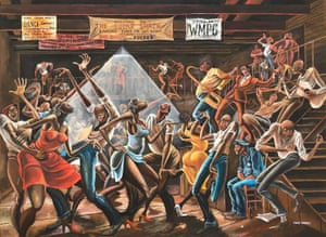 Ernie Barnes' The Sugar Shack.