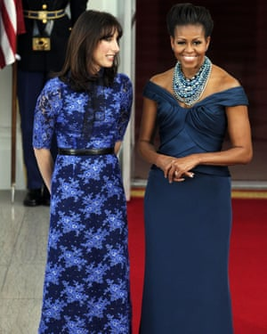 Michelle Obama with Samantha Cameron during David Cameron's visit to America, Washington DC, 14 March 2012.