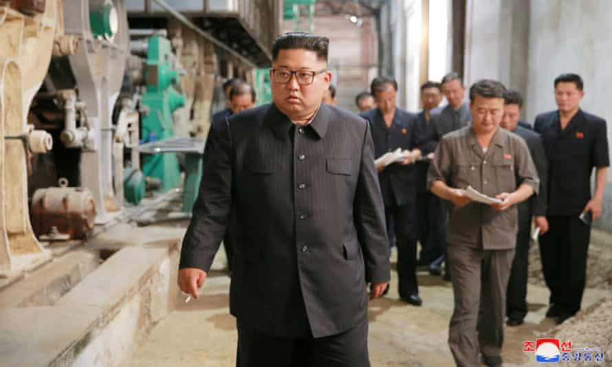 Factory production has fallen by an estimated 8.5% in North Korea in the last year.