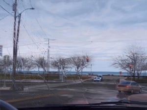 Gregory Thielker photography painting  while driving Under the Unminding Sky