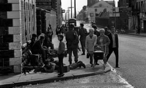 Troops and residents on Crumlin Road, Belfast in 1969.