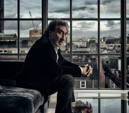 Howard Jacobson in his Soho home