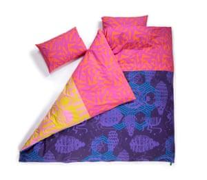 Irregular Sleep Pattern is a Glaswegian company making unique organic cotton pyjamas and bedding Hot pink duvet set, £165, Irregularsleeppattern.com