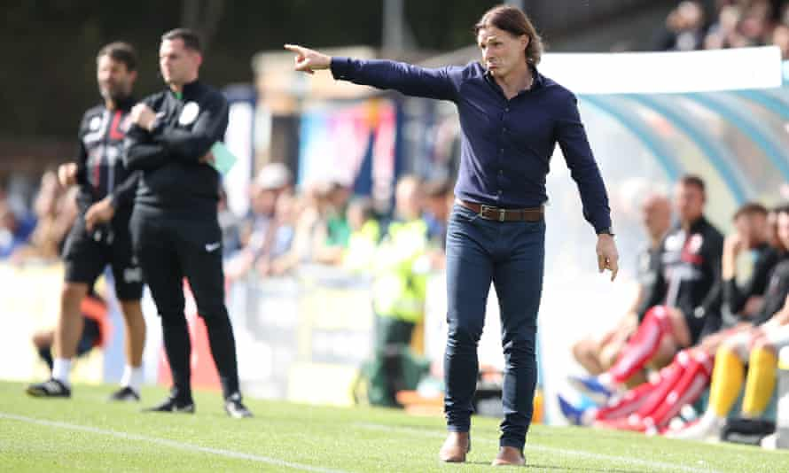 Gareth Ainsworth directs his players from the touchline