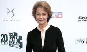"'I thought, ""Oh my God, what have I said""' ... Charlotte Rampling at the South Bank Sky arts awards."