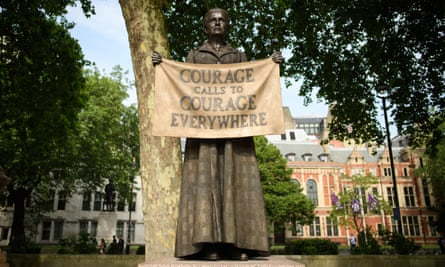Provoked a surge of joy in me ... Gillian Wearing's statue in honour of Millicent Fawcett.