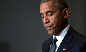 Barack Obama delivers a statement regarding the police shootings in Dallas, in Warsaw, Poland