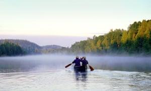 Boating on Cedar Lake.