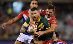 Josh Dugan of the Kangaroos