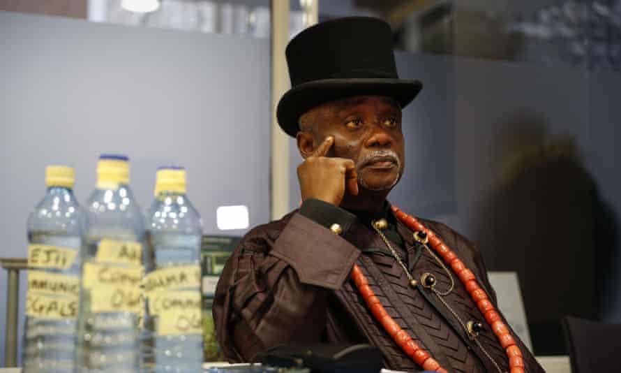 Nigerian tribal king Emere Godwin Bebe Okpabi