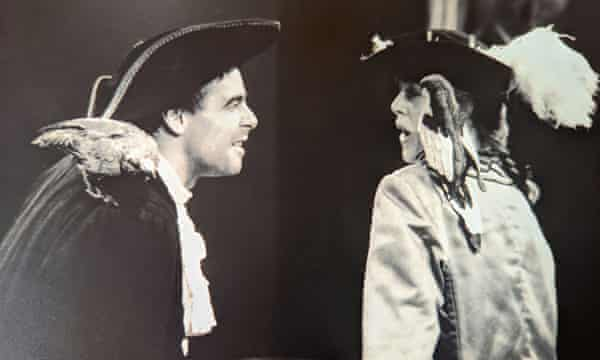 Tim and Viv in 1989 in The Real Long John Silver