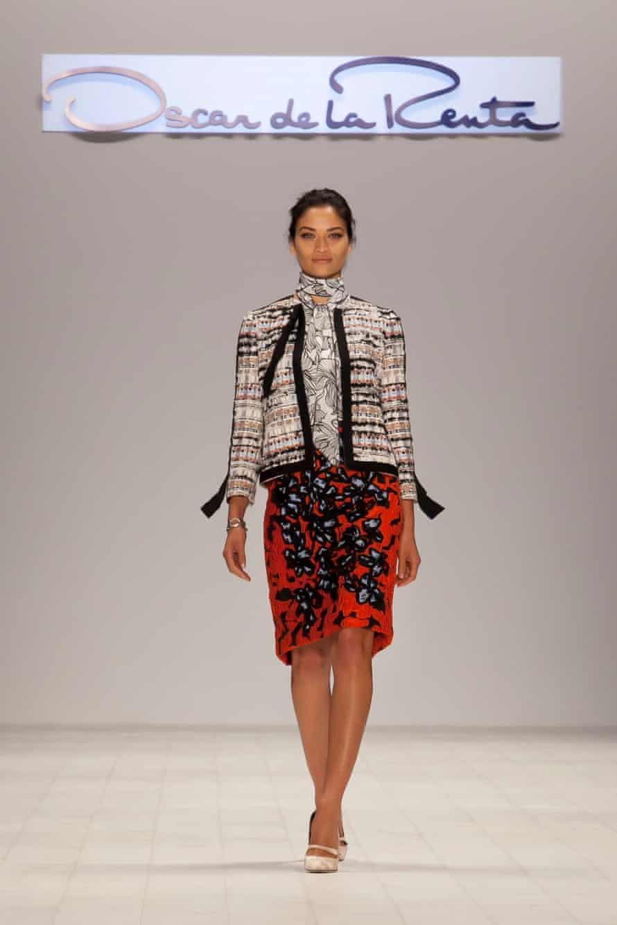 Shanina Shaik opened the Oscar de la Renta fashion show