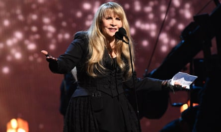 Stevie Nicks speaks onstage at the Rock and Roll Hall of Fame induction ceremony in Brooklyn, New York on 29 March. 'What I am doing is opening up the door for other women,' she said.