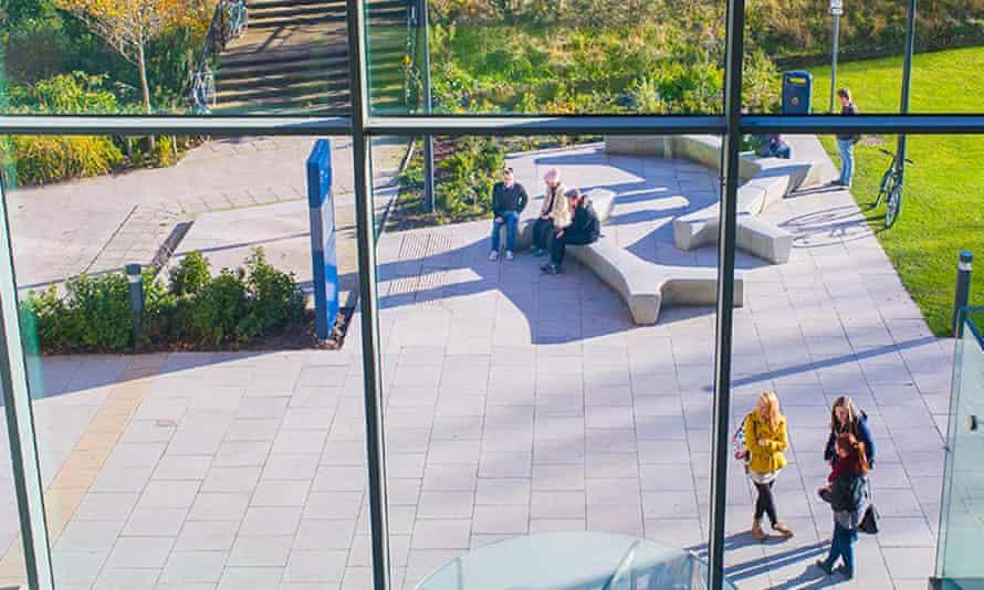 View from inside the John Lennon Art and Design Building