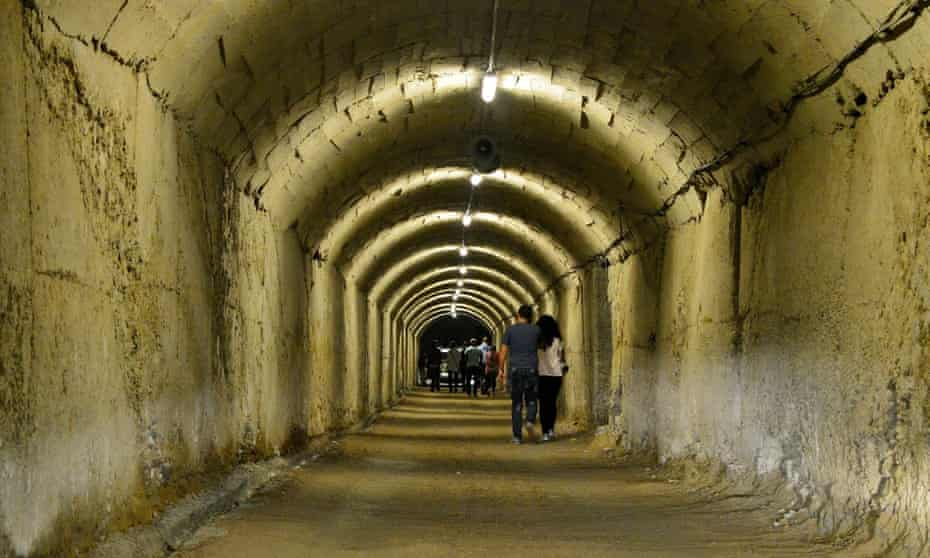 The tunnel leading out of Hoxha's complex.