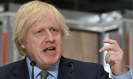 Boris Johnson gives a speech